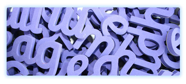 Image : Close-up of alphabet letters