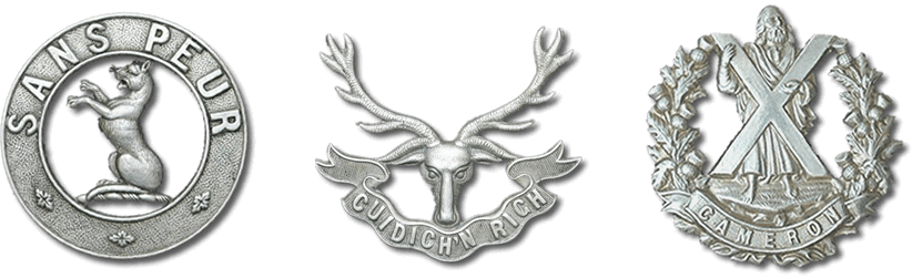 WW2 Scottish Cap Badges