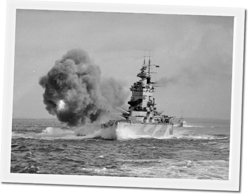 Image: Photograph of WW2 Battleship