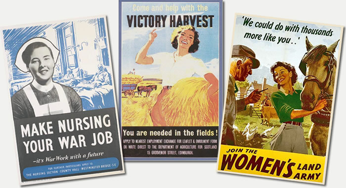 Graphic: Montage of WW2 Posters