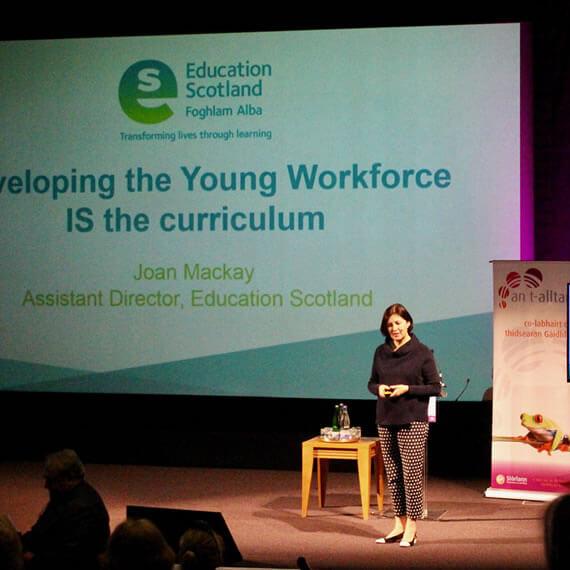Joan MacKay, Education Scotland, Keynote, An t-Alltan 2018