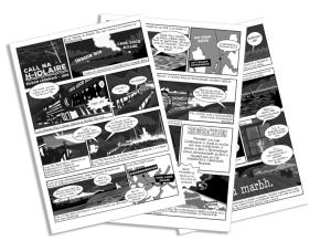 Pages from comic booklet