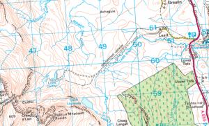 Loch Cuithir, far am faca Daorghlas an gobha.